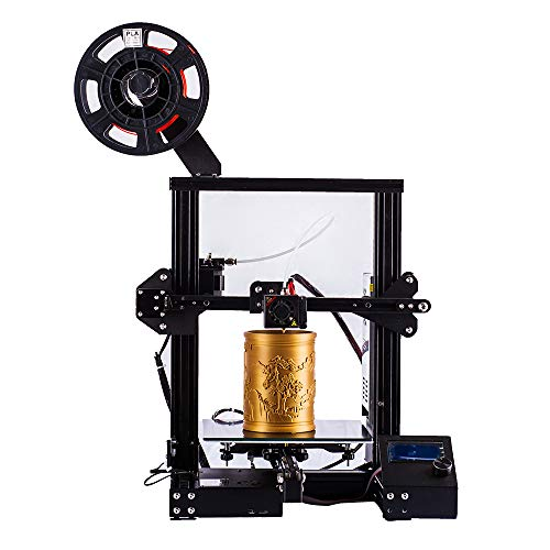 Tigtak A13 3D printer with Resume Print and Filament Detector, Off-line Printing, Printing Size 220x220x250mm (Black)