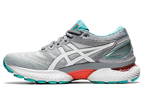 ASICS Women's Gel-Nimbus 22 Running Shoes, 5M, Sheet Rock/White