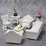 collectsound Canapé de maison de poupée 1/12 Coussin de fauteuil miniature Accessoires de salon