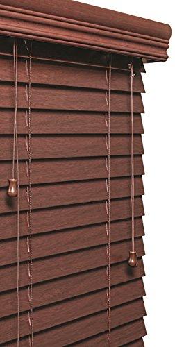 Lotus & Windoware 170 Inch Faux Wood Blinds, Treatments, Window coverings, 59 x 72, Mahogany