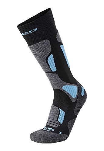 XAED C100548-002 Calcetines, Mujer, Negro/Azul, 38/40