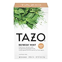 Tazo Filter Bag Tea, Refresh Mint, 120 Count by TAZO