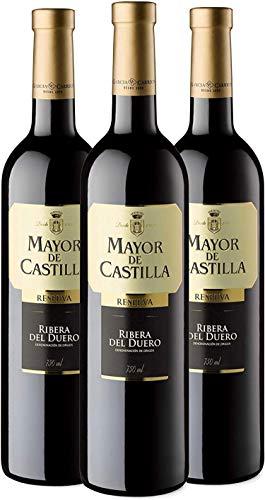 Mayor de Castilla Reserva - Vino Tinto D.O Ribera del Duero - Caja de 3 Botellas x 750 ml