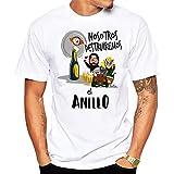 MardeTé Camiseta Despedida de Soltero. Nosotros destruiremos el Anillo. Camiseta a Juego con la de Novio Yo llevaré el Anillo Camiseta para Grupos de Despedida de Soltero. (M)