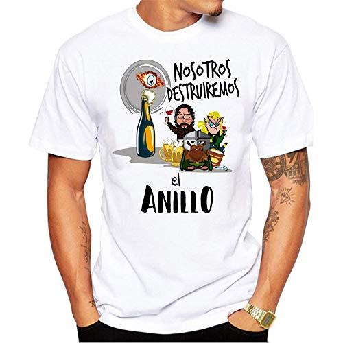 MardeTé Camiseta Despedida de Soltero. Nosotros destruiremos el Anillo. Camiseta a Juego con la de Novio Yo llevaré el Anillo Camiseta para Grupos de Despedida de Soltero. (L)