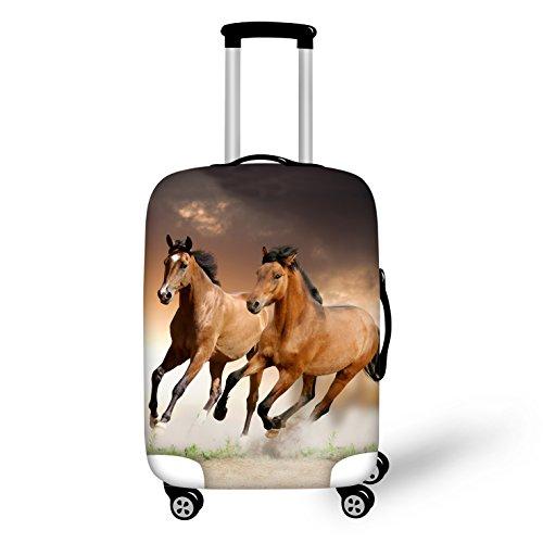 """Gopumchy Pferd 3D Bedruckte Cover Gepäckabdeckung Koffer Abdeckung für Reisegepäck deckt Schutzhülle Kofferschutzhülle Gepäck Cover Reisekoffer Hülle Kofferschutz Luggage L (26""""-28"""")"""