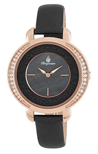 Burgmeister Damen Analog Quarz Uhr mit Leder Armband BM808-322