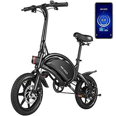 ANCHEER Electric Bike 14'' Electric Bicycle, 500W Electric Commuter Bike 20MPH Adults Ebike with 48V 7.5Ah Battery