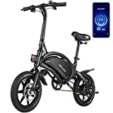ANCHEER Electric Bike Electric Commuter Bike 500W Ebike 14'' Electric Bicycle, 20MPH Adults Ebike and 48V 7.5Ah Battery Scooter (14inch Black)