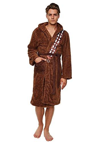 Star Wars Bademantel Jedi, braun-beige Gr. Einheitsgröße-Erwachsene, Chewbacca Chewie Wookiee