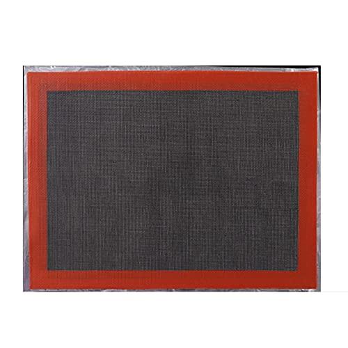 HYMD Estera de Barbacoa 2pcs 30x40cm Matear Antiadherente para Hornear a Calor Resistente al Calor Mujer HUEGO Mujer HORNERO del HORNERO (Color : Style 1)