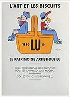 ポスター レイモン サビニャック Liart et les Biscuits 1980 額装品 アルミ製ハイグレードフレーム(ホワイト)