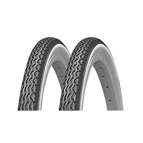 P4B | 2X 26 Zoll Reifen für Ihr Fahrrad | 37-590 (26 x 1 3/8) | Komfortables Fahrverhalten unter Allen Bedingungen