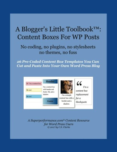 A Blogger's Little Toolbook: Content Boxes For WP Posts