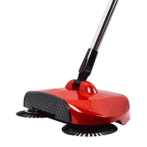 Manual Sweeper Pushes The Mop Without Hand Twisting The Floor Cleaning Microfiber Mop With Wet Or Dry Pad Best Magic Cleaning Broom AYUYU (Color : Fuguihong)