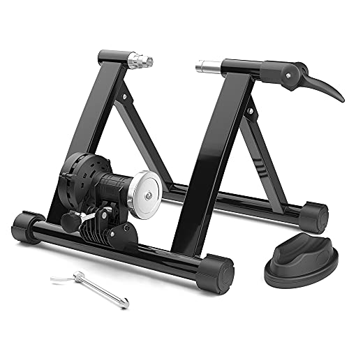 Bike Trainer Stand, Stationary Bike Stand for Indoor Riding Magnetic Trainer Stand with Quick-release Skewer Bike Resistance Trainers for Workout/Fitness Foldable & Low Noise STEELGEAR - SGBTS01-1