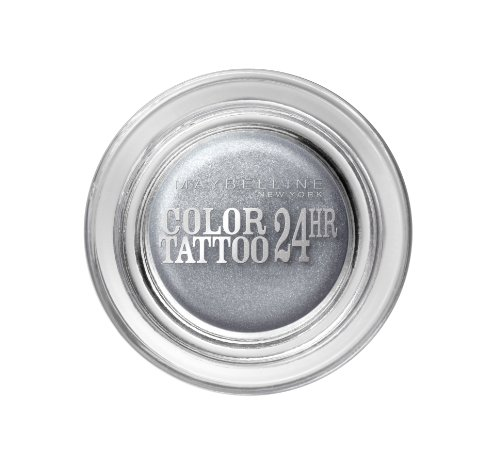 Maybelline New York Eye Studio Color Tattoo 24H Ombre à Paupières 50 Eternal Silver