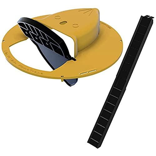 Tapa de Cubo Deslizante Trampa para Ratas para Ratones Captura múltiple Auto Rese Trampa para Ratones para Interiores y Exteriores Amarillo + Negro 12 * 12 * 3 Pulgadas (Amarillo)
