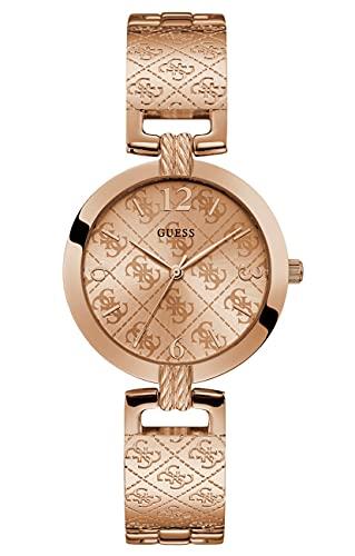 Guess Reloj Término análogo para Mujeres de Cuarzo con Correa en Acero Inoxidable W1228L3