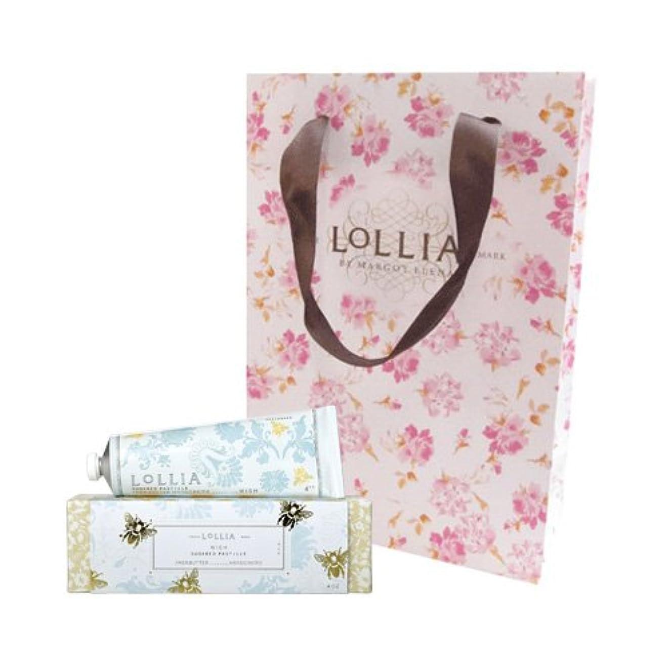 質量酔っ払い効能あるロリア(LoLLIA) ハンドクリーム Wish 35g (白い花にしたたる蜜とバニラの甘く切ない願い) ショッパー付