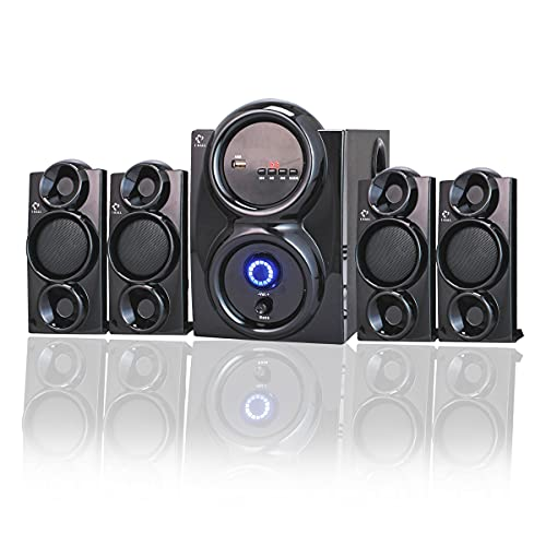 I KALL IK-409 Multimedia Home Theatre System with Bluetooth, Aux, USB, FM Connectivity (4.1, Black)