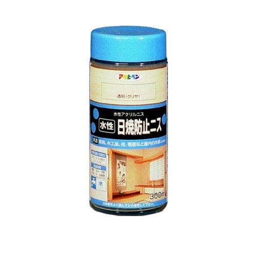 アサヒペン 水性日焼防止ニス 300mL (透明 (クリヤ)) 9010445