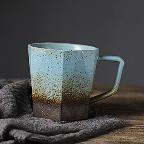 DSISI Taza de café de cerámica con asa, Taza de té para Oficina y hogar, 16 oz, lavavajillas y Caja Fuerte de microondas, 1 unids para Latte, café, Sopa, té, Cereal