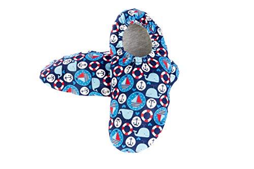 Smile Step Erwachsenen Strandschuhe Aquaschuhe Schwimmschuhe Atmungsaktiv für Herren - Design Boote & Anker