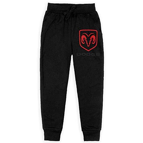 Miwaimao DOD_Ge Ra_M Tr_Ucks 3D-Druck Jungen Baumwolle Sweatpants mit Taschen Athletic Pants Fleece Hose Gr. 36-41, Schwarz
