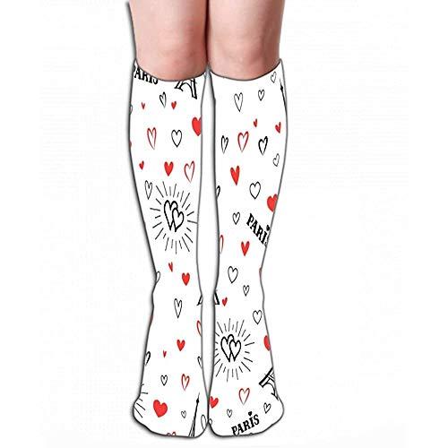 High Socks Stocking reizen Frankrijk liefde Parijs stad behang vakantie frans mijlpaal hart Tegel lengte 19.7