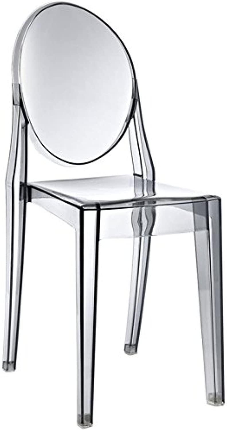 Hawthorne Collections Dining Side Chair in Smoked Clear