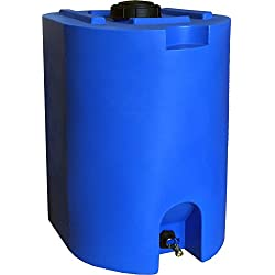 Blue 55 Gallon Water Storage Tank by WaterPrepared – Emergency...