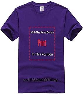 Bonsai Tree in Enso Circle Buddhist Zen Calligraphy T Shirt Short Sleeves Cotton Fashion T-Shirt Brand:Men-Darkpurple, L