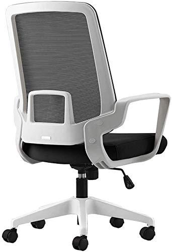 TGFVGHB Sedia per computer da ufficio Moderna semplicità in rete traspirante Sedia da personale Fisso Bracciolo Sedentario non stanco Peso del cuscinetto 250kg Multi-colore opzionale (Colore: Bianco)