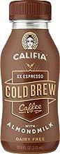 Califia Farms XX Espresso Cold Brew Coffee with Almondmilk, 10.5 Oz (Pack of 12)   Dairy Free   Plant Based   Nut Milk   Vegan   Non-GMO