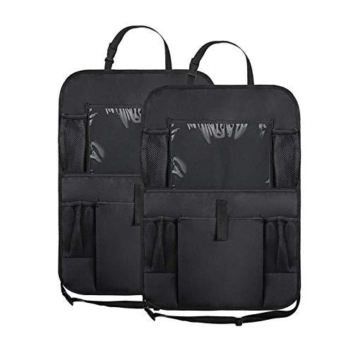 Car Storage Bag car seat Back seat Anti-Kick pad Suspension Pocket Beautifully Designed Around The Room Full Advantage Waterproof 2PCS,Black
