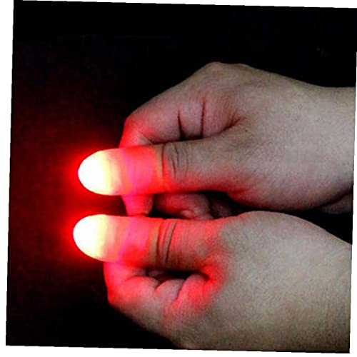 TOPofly 2PCS Magic Trick Fingers Light Up Thumbs Magic Tricks Tips Fingers Thumb Tips Magic Trick Fingers Appearing Light Stage Show Prop