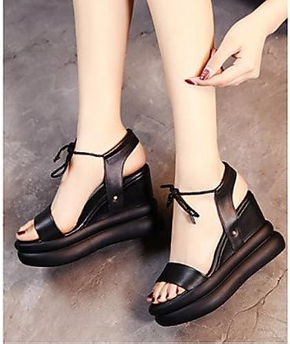 RUGAI-UE Mode d'été Occasionnels Chaussures Femmes Sandales PU Confort Talons,Bcourir,US9   EU40   UK7   CN41