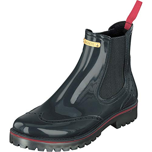 GOSCH SHOES Damen Schuhe Gummistiefel Chelsea Boot 71051-335 in 3 Farben (38 EU, Stahlblau)