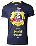 Fallout T-Shirt 76 - Vault 76 Poster Men's T-Shirt Blue-S