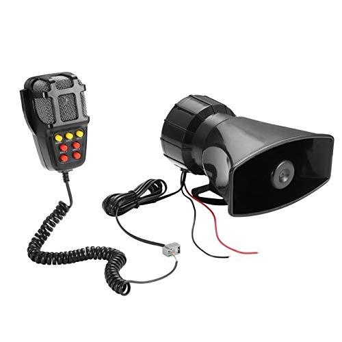 Alarma de coche Alarma CCI HW-1006B 12V 100W 125dB coche eléctrico cuerno de aire Sirena Altavoz 5 Tono de sonido muy ruidoso con micrófono sistema de alerta de seguridad