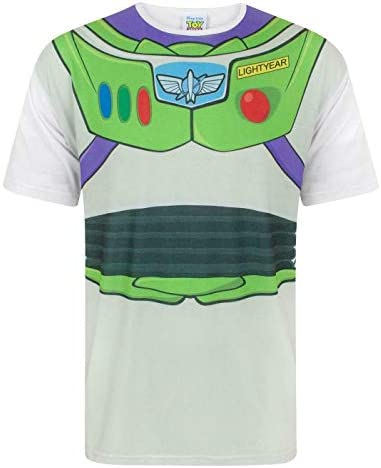 Disney Los Adultos Toy Story Buzz Lightyear Vestuario de la Camiseta