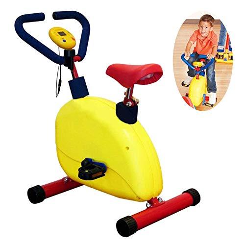 LDIW Indoor-Fahrrad für Kind, Heimtrainer Einstellbarer Widerstand Geeignet für Kinder von 3-8/90-140cm Junge Mädchen Geburtstagsgeschenk