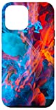 iPhone 12 Pro Max Fire Ice Blue Red Watercolor Explosion Phone Case