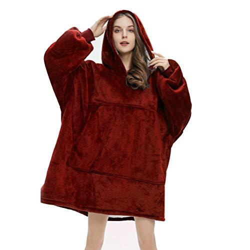 Sudadera con capucha de gran tamaño, súper suave, cálida, cómoda, con capucha, talla única para todos los hombres, mujeres y niñas, niños
