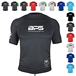 BPS Men's UPF 50+ Short Sleeve and Long Sleeve Swim Shirt/Rash Guard...