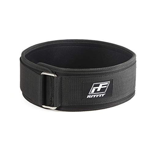 Ritfit, cintura salda e comoda, per supporto lombare posteriore,ca. 10,2cm colore nero