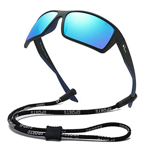 Bevi Sports Sunglasses Polarized Lens/TR 90 Frame with Spring Hinges Glasses For Men Women Cycling Running Baseball 2677cC2