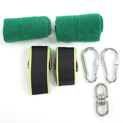 DAUERHAFT Juego de cinturón de Columpio de Cuerda de Columpio para Exteriores de 350 kg de fácil Transporte para Todos los Tipos de Columpios(Swing Belt Set)