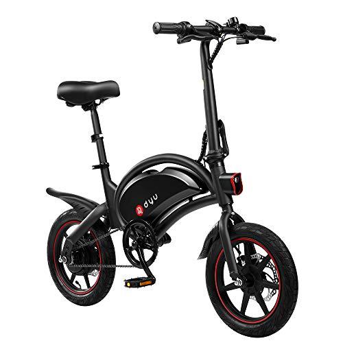 AmazeFan DYU D3F vélo électrique Pliant, vélo Intelligent pour Adultes, vélo en Alliage d'aluminium 240W Batterie Lithium-ION Amovible 36V / 6Ah avec 3 Modes de Conduite